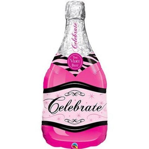 П ФИГУРА 5 Бутылка шампанского розовая