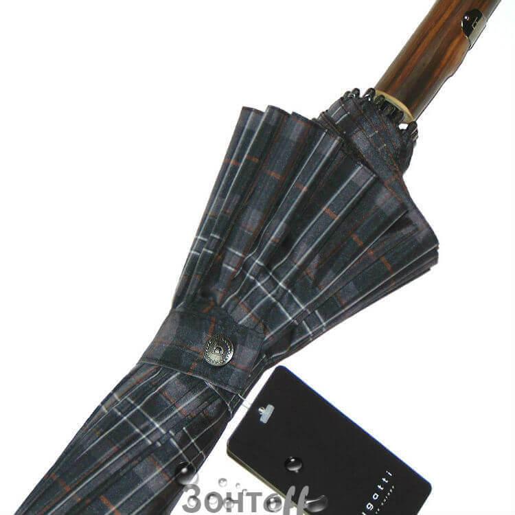 Зонт-трость Bugatti 71762001 Doorman Check Grey