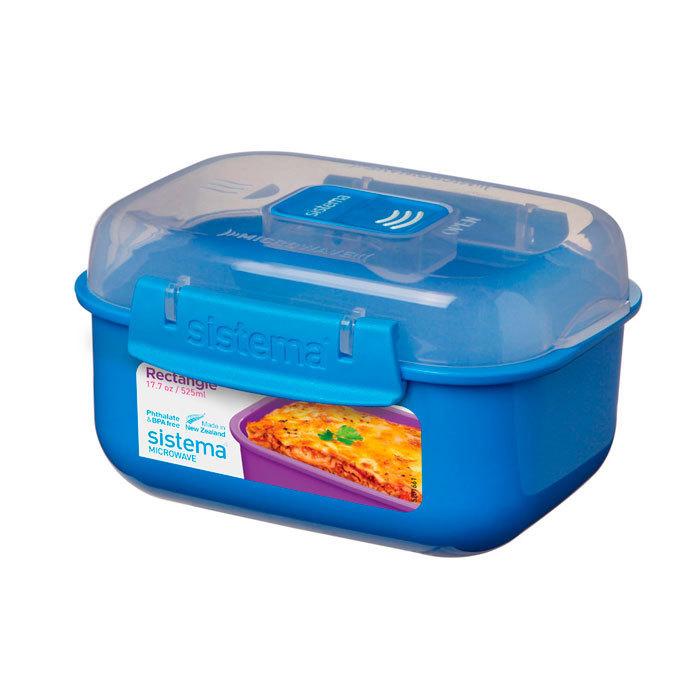 "Контейнер для СВЧ Sistema ""Microwave"" 525 мл, цвет Голубой"