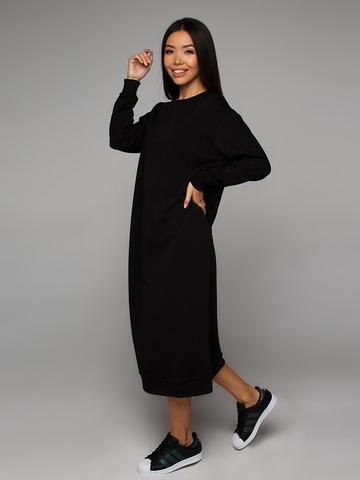 Платье-свитшот черное YOS