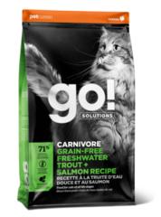 Корм для котят и кошек, GO! Carnivore Grain Free Freshwater Trout&Salmon Cat Recipe, беззерновой, с чувствительным пищеварением, с форелью и лососем