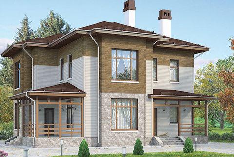 Пример фасада - BURG Цвет шерсти, STEIN Бронзовый