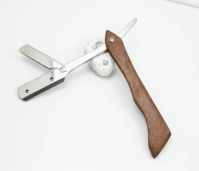 RAZ359 Бритва шаветка с деревянной ручкой
