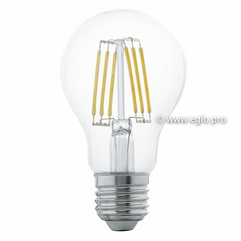 Лампа LED филаментная прозрачная Eglo CLEAR LM-LED-E27 6W 550Lm 2700K A60 11501