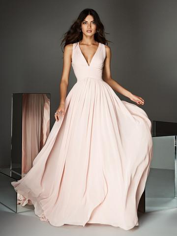 Вечернее платье классическое из шифона