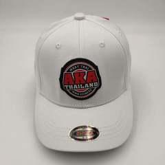 Кепка с логотипом АКА ММА  (Бейсболка AKA THAILAND MMA fight night) белая