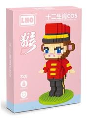 Конструктор LNO Поп Март Обезьяна 750 деталей NO. 328 POP MART Monkey