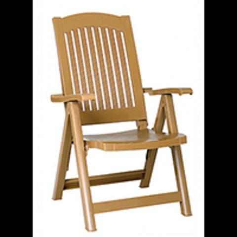 Кресло-шезлонг пластиковое PASA коричневое (Siesta/Турция)