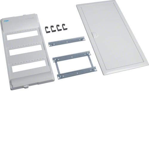 Съемный пакет,Volta, комплект без основания и QC, для наборных клемм на DIN рейку, 3-рядного, RAL9010