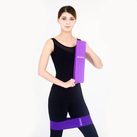 Тканевые фитнес ленты, резинки для спорта - комплект 2 шт