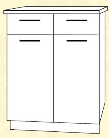 ШН2Я 600 Шкаф нижний 2 ящика