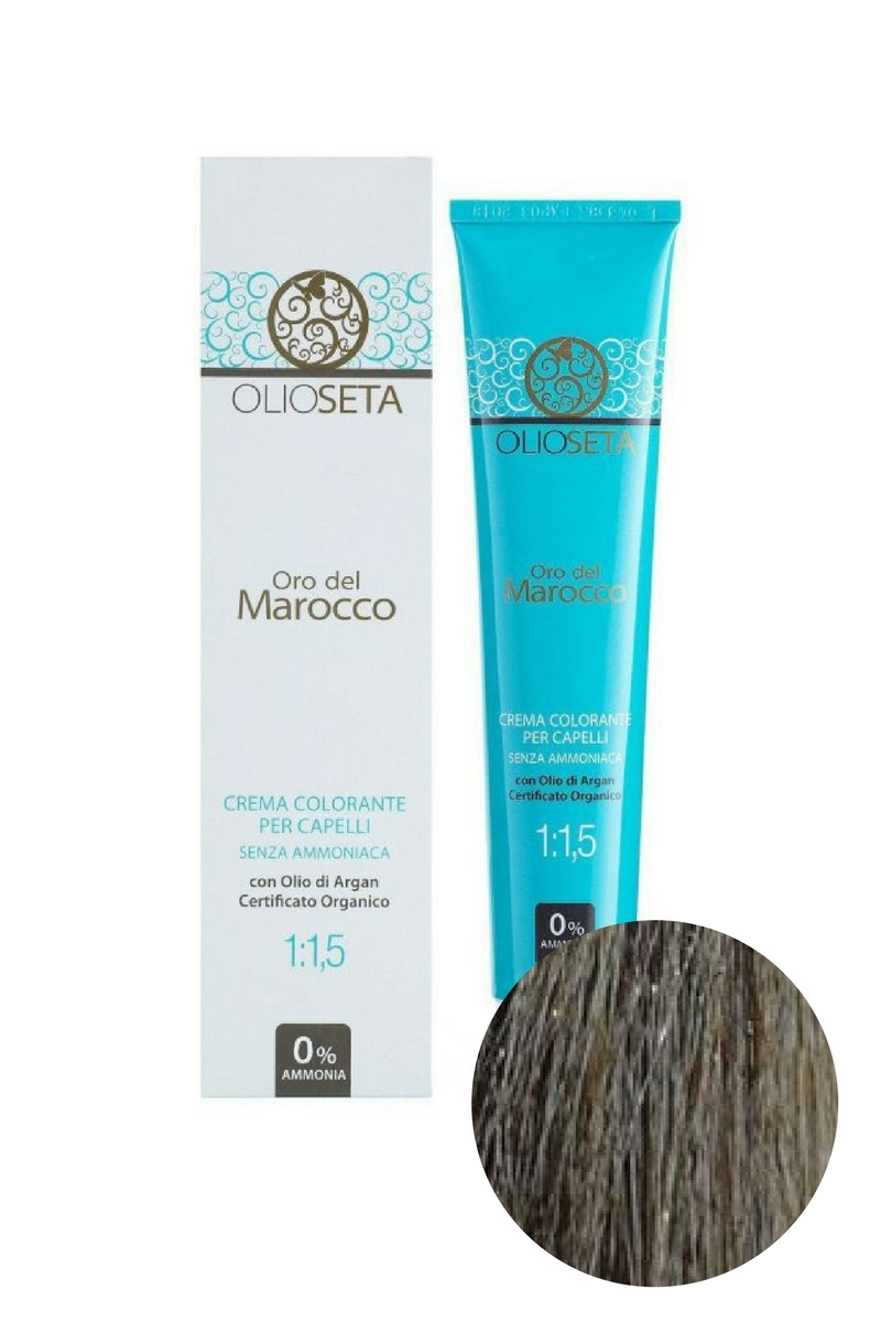 Крем-краска для волос 6.1 Темный блондин пепельный Oro del Marocco, Barex