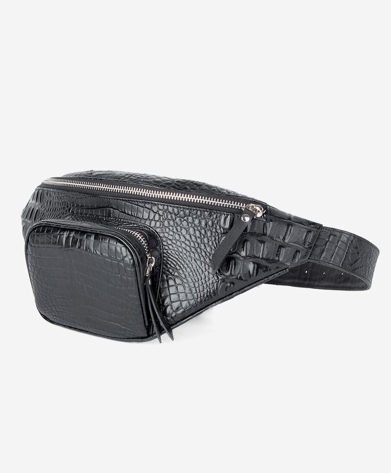 Поясная сумка черный кайман