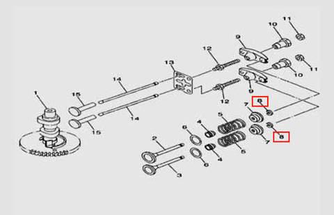 Зажим клапана для лодочного мотора F5 Sea-PRO(5-8)