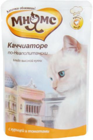 Мнямс паучи для кошек Каччиаторе по-Неаполитански (курица с томатами)