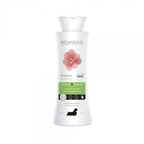 Укрепляющий универсальный органический ЭКО-шампунь Universal Shampoo Organissime by Biogance для собак всех пород с экстрактом розовой герани и хвоща полевого 250 мл 250 мл