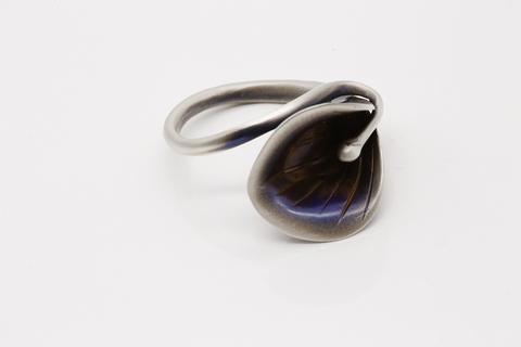 Серебряное кольцо без вставок Литва