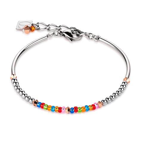 Браслет Coeur de Lion 4859/30-1500 цвет мультиколор, серебряный