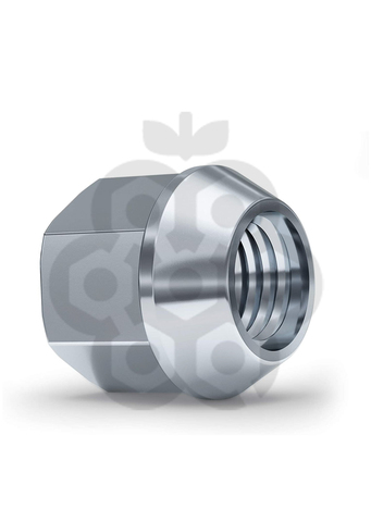 Гайка колёсная М12x1.5 длина=25мм ключ=21мм открытая конус 60º хром