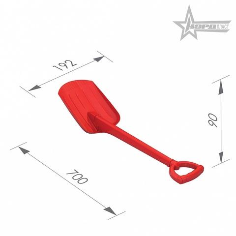 Лопата, 70 см. (красная), Нордпласт, 130/1