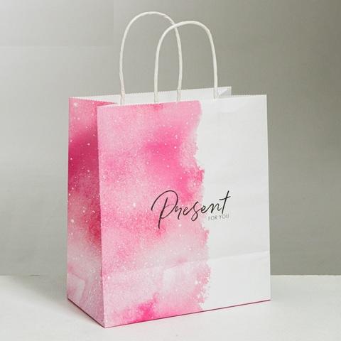 Пакет подарочный крафтовый Present for you, 22 × 25 × 12 см