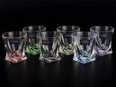 Набор из 6 цветных стопок для водки Quadro Ассорти, 55 мл, фото 4