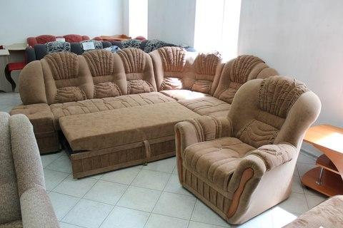 Угловой диван с креслом