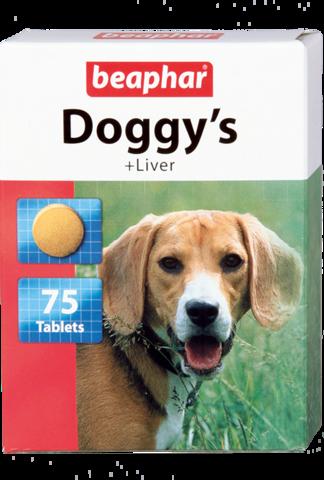 Beaphar Кормовая добавка Doggy's + Liver со вкусом печени для собак