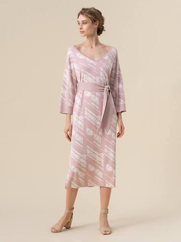 Женское платье светло-розового цвета из шелка и вискозы - фото 2