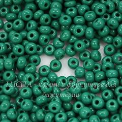 53240 Бисер 6/0 Preciosa Керамика зелено-бирюзовый
