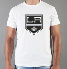 Футболка с принтом НХЛ Лос-Анджелес Кингз (NHL Los Angeles Kings) белая 003
