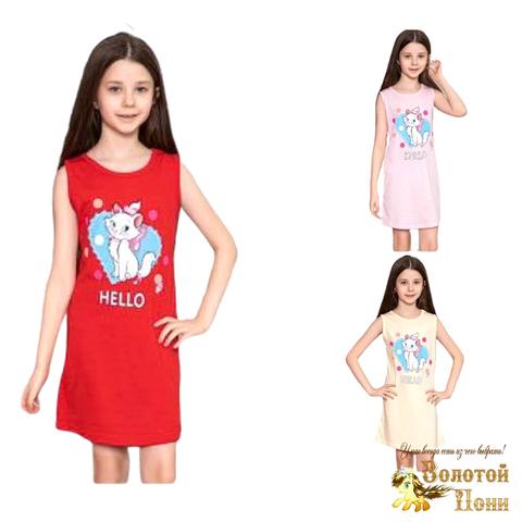 Сорочка хлопок девочке (6-14) 210318-М1159