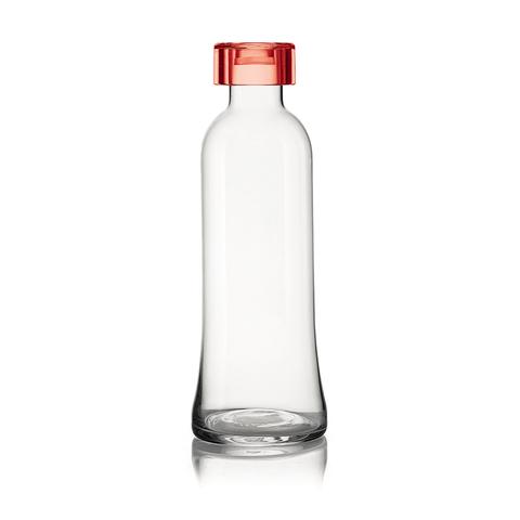Бутылка для воды стеклянная, 1 л красная