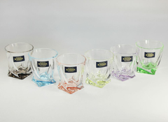 Набор из 6 цветных стопок для водки Quadro Ассорти, 55 мл, фото 5