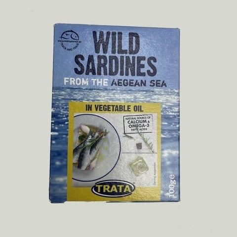Сардины атлантические в масле TRATA 100 гр