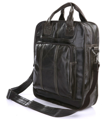 Кожаная сумка-рюкзак JMD 7168