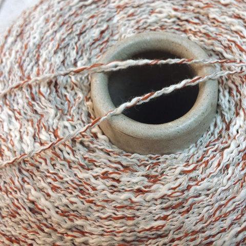 Хлопок со льном и вискозой CASA DEL FILATO / DENVER 180 бело-серо-коричневый