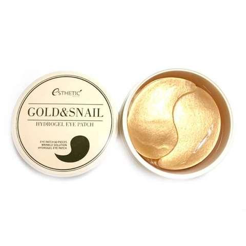 Esthetic House Гидрогелевые патчи для глаз с золотом и муцином улитки Gold & Snail Hydrogel Eye Patch, 60 шт