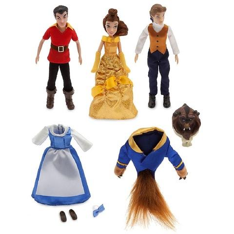 Дисней Красавица и Чудовище мини куклы Бель, Гастон и Чудовище