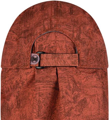Кепка с защитой шеи от солнца Buff Bimini Cap Zinc Terracotta фото 2