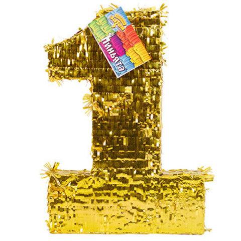 Пиньята Цифра 1 Золото