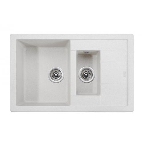 Кухонная гранитная мойка Kaiser KG2M-7850-W белый