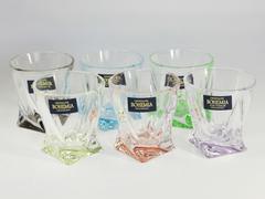 Набор из 6 цветных стопок для водки Quadro Ассорти, 55 мл, фото 6