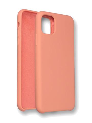 Чехол для iPhone 11 Pro Софт тач мягкий эффект | микрофибра оранжево-розовый
