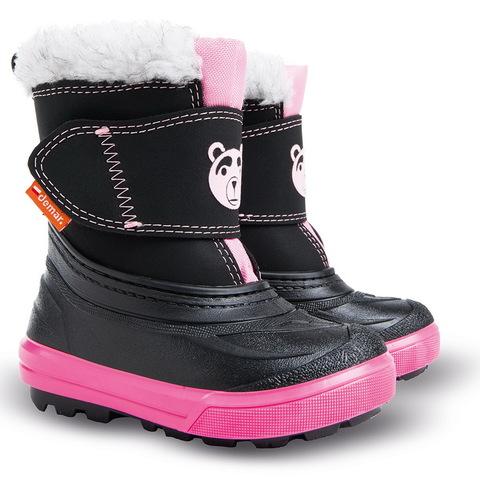 Demar (Демар) Bear сноубутсы, утепленные 100% овечьей шерстью, черно-розовый