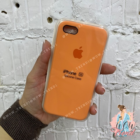 Чехол iPhone 5/5s/SE Silicone Case /papaya/ папая 1:1