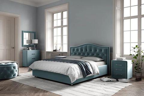 Кровать Ливерпуль с мягким изголовьем