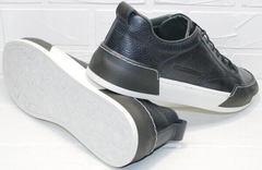 Модные кеды для мужчин кроссовки синего цвета демисезонные Luciano Bellini C6401 TK Blue.