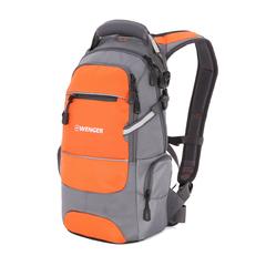 Рюкзак Wenger, серый/оранжевый, со светоотражающими элементами, 23х18х47 см, 22 л