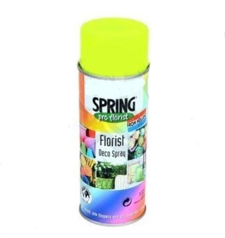 Краска-спрей SPRING флуоресцент. Цвет: 126, желтый